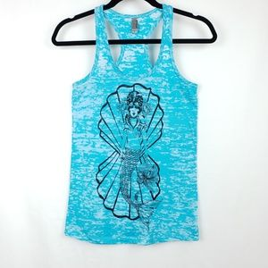 Mermaid Seashell Octopus Tank Top